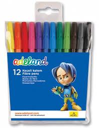 Фломастеры <b>ADELAND 12 цветов Adel</b> 222-0213-100 ...
