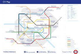 tube map cv online portfolio cv map 1