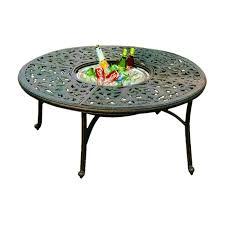 Darlee DL80 Q Series 80 Round Tea Table With Ice Bucket Insert