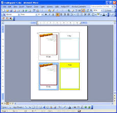 Word Cards Templates Ms Word Card Templates Under Fontanacountryinn Com