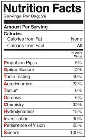 potato chip bag nutrition facts