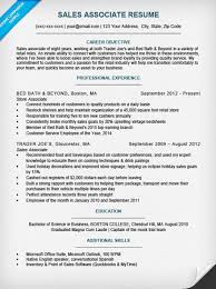 Sales Associate Cover Letter Resume Sample Necessary Portray