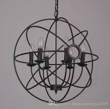 pendant foucault s iron orb chandelier rustic iron loft light rh lighting vintage pendant lamp 50cm 65cm pendant lamp rh rh pendant lights with