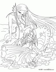 Free Printable Coloring Pages For Adults Mermaids Coloring Home