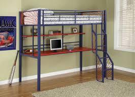 metal bunk bed with desk. Bedroom:Modern Full Size Metal Loft Beds For With Desk Underneath Winning Closet Under Storage Bunk Bed