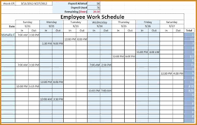 Excellent Blank Employee Schedule Heritageacresnutrition Com