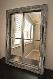 Homemade Rustic Picture Frames Best 20 Rustic Mirrors Ideas On Pinterest Farm Mirrors