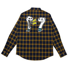 <b>Mike Shinoda</b> Boris & Oatmeal Embroidered <b>Flannel</b>