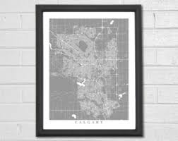 Small Picture Calgary map Etsy
