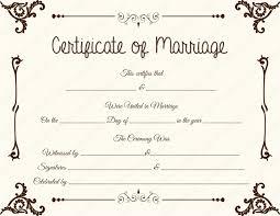 Fake Floral Corner Marriage Certificate Template Printable
