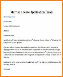 Emergency Leave Letter To Boss Marriage Leave Email Sample Jpg Waa