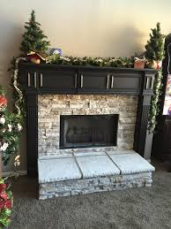 view larger image fireplace remodel with dry stack stone veneer
