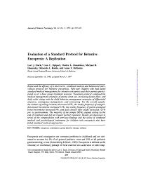 Pdf Evaluation Of A Standard Protocol For Retentive
