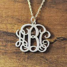 whole silver plated personalized monogram necklace 3 initial monogram necklace personalized necklace personalized necklaces amethyst necklace from