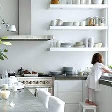 stainless steel shelf for kitchen redoing metal open wall shelves