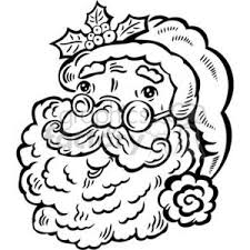 Black And White Santa Claus Clipart Commercial Use Gif Jpg Png Eps Svg Pdf Clipart 381087 Graphics Factory