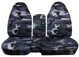 ford ranger 60 40 gray camo seat covers