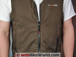 gerbing core heat vest review webbikeworld gerbing heated vest zipper