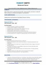 resume sample for restaurant server restaurant server resume samples qwikresume
