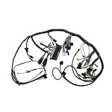 Under dash wiring harness with premium fuse box relays without tachometer 1967
