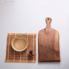 2019 whole wood bread pizza serving board tray plate handle cutting board chopping board vegetable chopping block baking cooking tool from yuancao