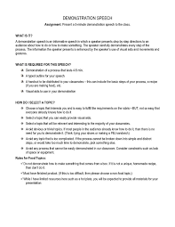 Demonstration Speech Outline 7 Middle School Speech Examples Pdf Examples