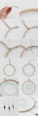 suede wrapped hoop and embroidery floss dream catcher