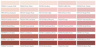 Pink Rose Color Chart Duron Paints Duron Paint Colors Duron Wall Coverings