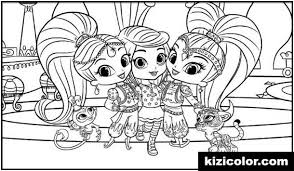 To give your children such pages is recommended since the shimmer and shine is a famous american animated series that is often… hi good parents! Leah Free Printable Coloring Pages For Girls And Boys Page 1