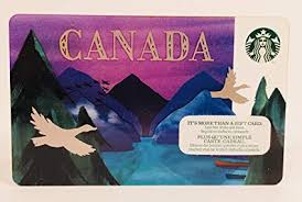 starbucks gift card collectible no value 2016 canada city card canadian geese