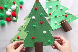 Christmas Tree In Chart Paper Christmas Tree Outline The Best Ideas For Kids