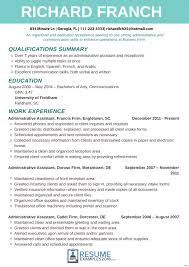 Resumes Examples For Receptionist Resume Of Jobs Medical With Resume