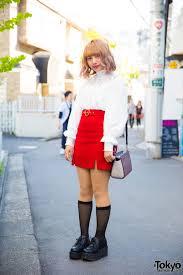 harajuku makeup artist in vine street style w vannie tokyo bubbles michael kors