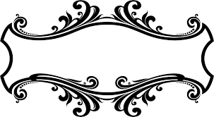 decorative ornamental flourish frame design png