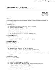Electrician Apprentice Resume Examples - Examples of Resumes