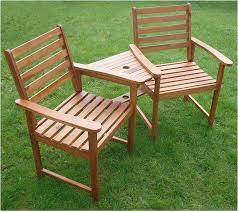 Ascot Hardwood Garden Bench Companion Set Love Seat Great Outdoor Furniture For Your Garden Or Patio Amazon Co Uk Garden Outdoors