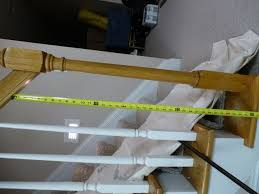 replace stair railing. Replacing Wooden Stair Balusters (Spindles) With Wrought Iron-p1010265.jpg Replace Railing N