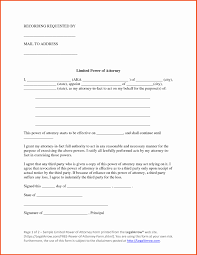 Sample Limited Power Of Attorney Form Texas Limited Power Of attorney form Elegant forms Limited Power 1
