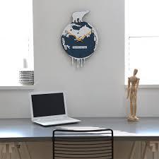 Arctic Impression Clock European Style Wall Clock Living Room Creative  Personality Art Large Clock Bedroom Quiet