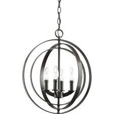 progress lighting equinox collection 4 light antique bronze orb pendant