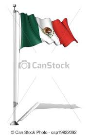 mexican flag waving drawing. Beautiful Mexican Flag Pole Mexico  Csp19822092 Intended Mexican Waving Drawing L