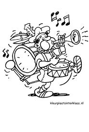 Muziek Piet Kleurplaat Sinterklaas