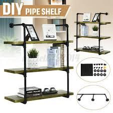 3 tier wall shelf industrial iron pipe