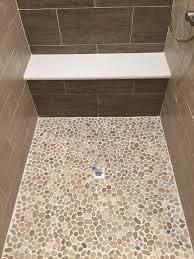 best 25 stone shower floor ideas on in inspirations 2 sliced java tan pebble tile