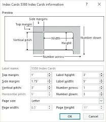 3 By 5 Index Card Avery 3 X 5 Index Card Template How To Make Cards In Word Details