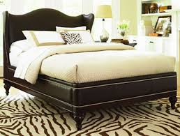 leather king bed. Modren King Newbury Leather Queen Wing Bed And King O