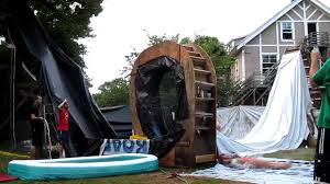 BACKYARD WATER SLIDE PART 2  YouTubeWater Slides Backyard
