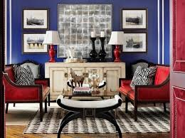 patriotic sitting room - love this! Blue Living RoomsLiving SpacesRed ...