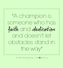 Champion Quotes Interesting Nicole Wilkinson A Champion Quote