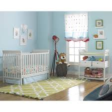Fisher Price 3 in 1 Nursery Furniture Set with Mattress Misty Gray